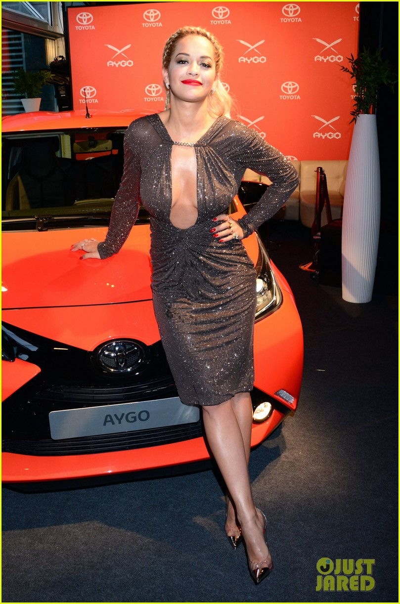 rita ora premieres the new toyota aygo in berlin 143148788