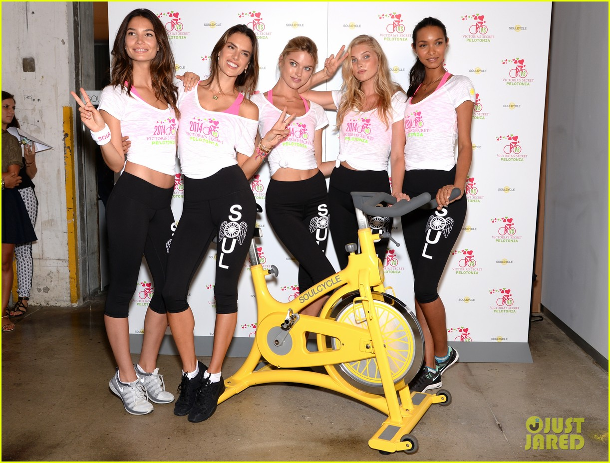 victorias secret angels go cycling for pelotonia 103152732