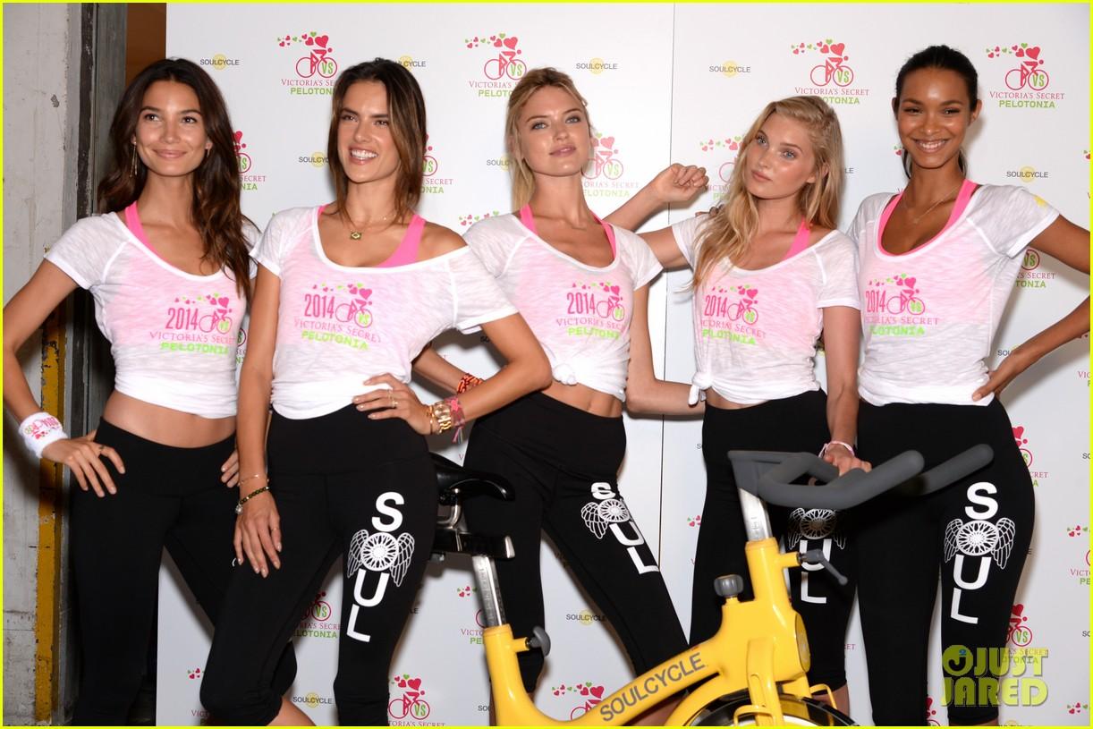 victorias secret angels go cycling for pelotonia 123152734
