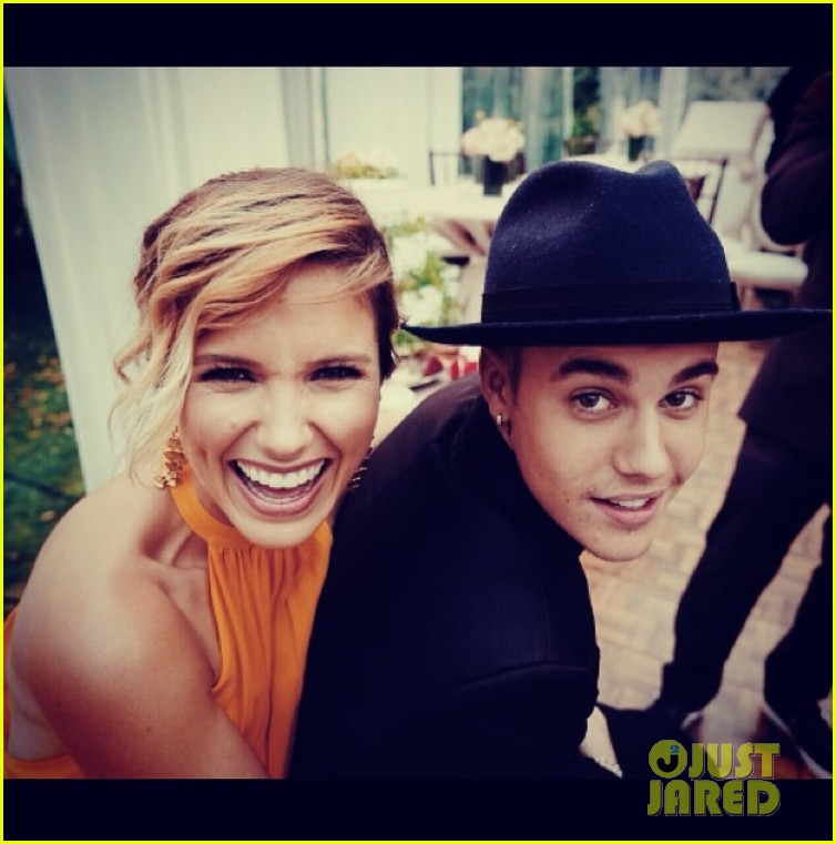 sophia bush catches up with pal justin bieber 033152601