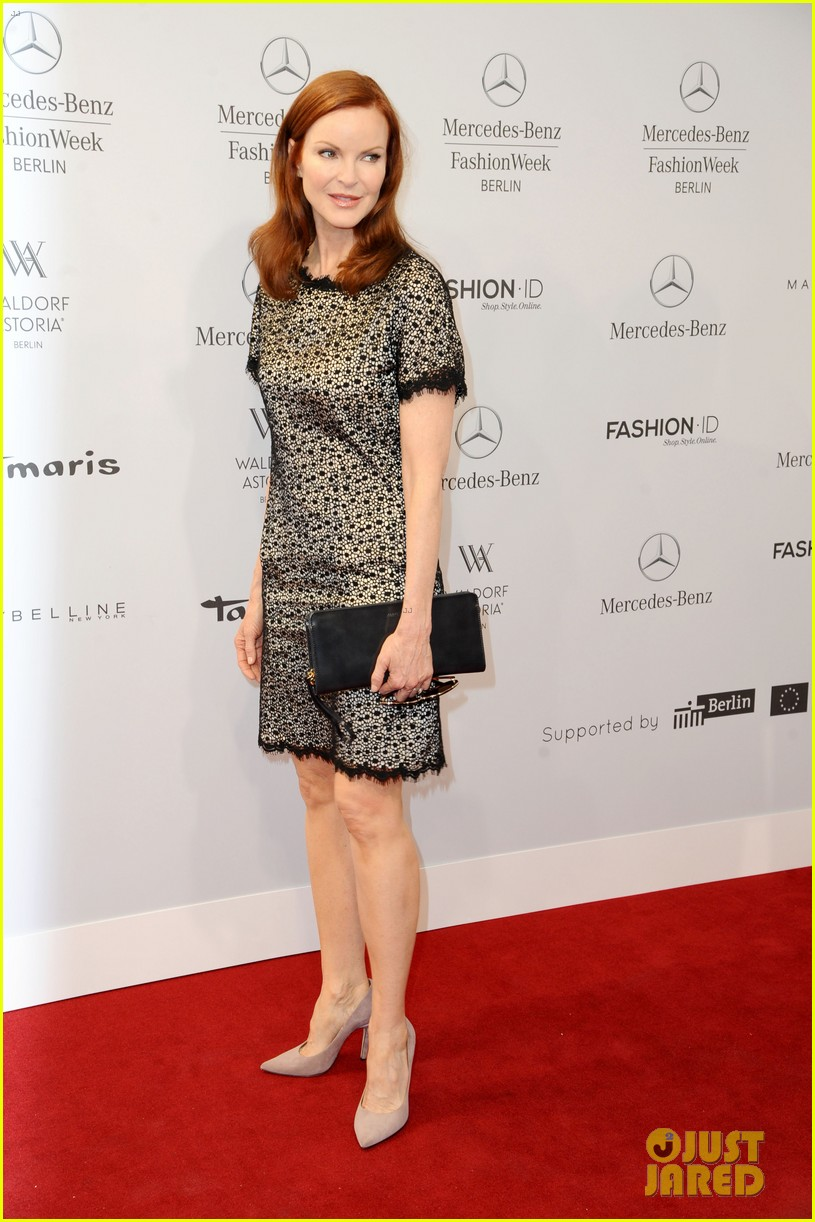 hilary swank marcia cross get dolled up for marc cain 113153591