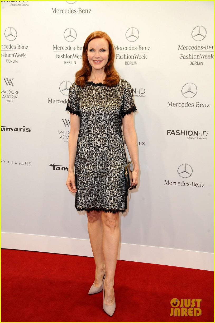 hilary swank marcia cross get dolled up for marc cain 133153593