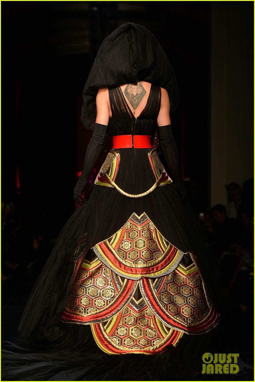 bearded drag queen conchita wurst walks jean paul gualtier show runway 093152322