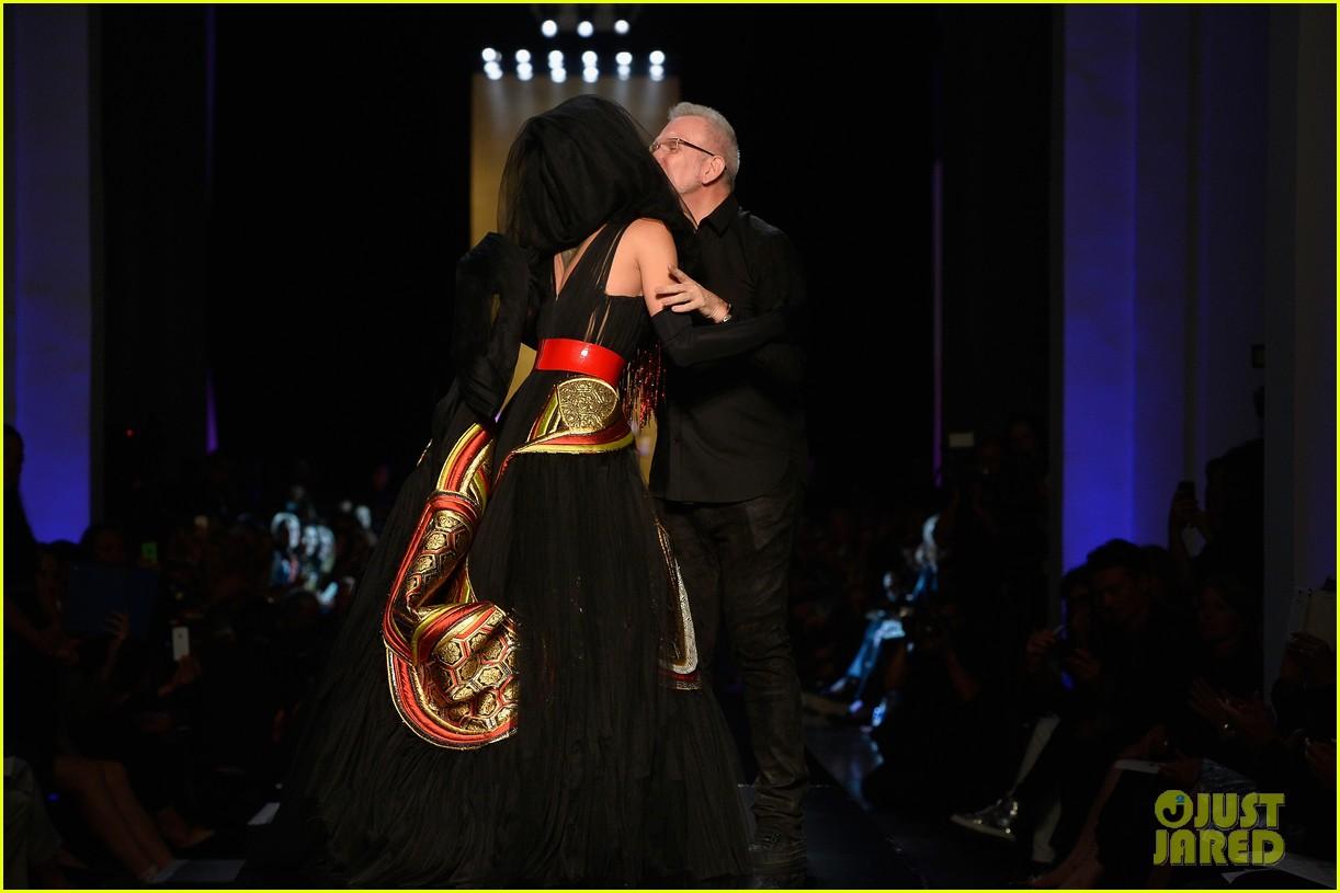 bearded drag queen conchita wurst walks jean paul gualtier show runway 103152323