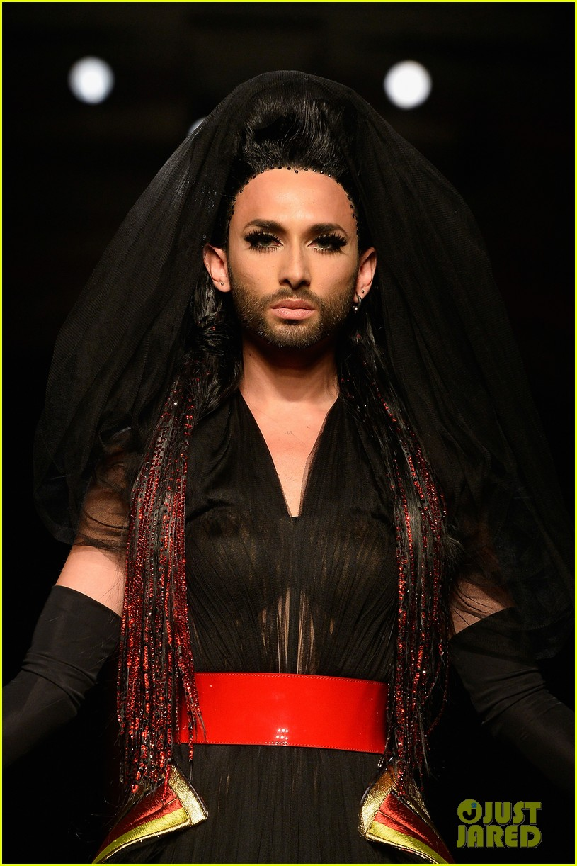 Bearded Drag Queen Conchita Wurst Walks The Runway At Jean Paul