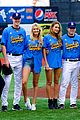 lily aldridge gigi hadid throw out first pitch at baseball game 27