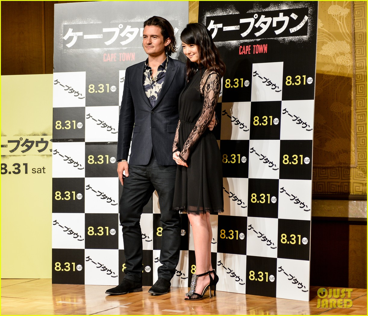 orlando bloom rocks suit at zulu japan 103184548