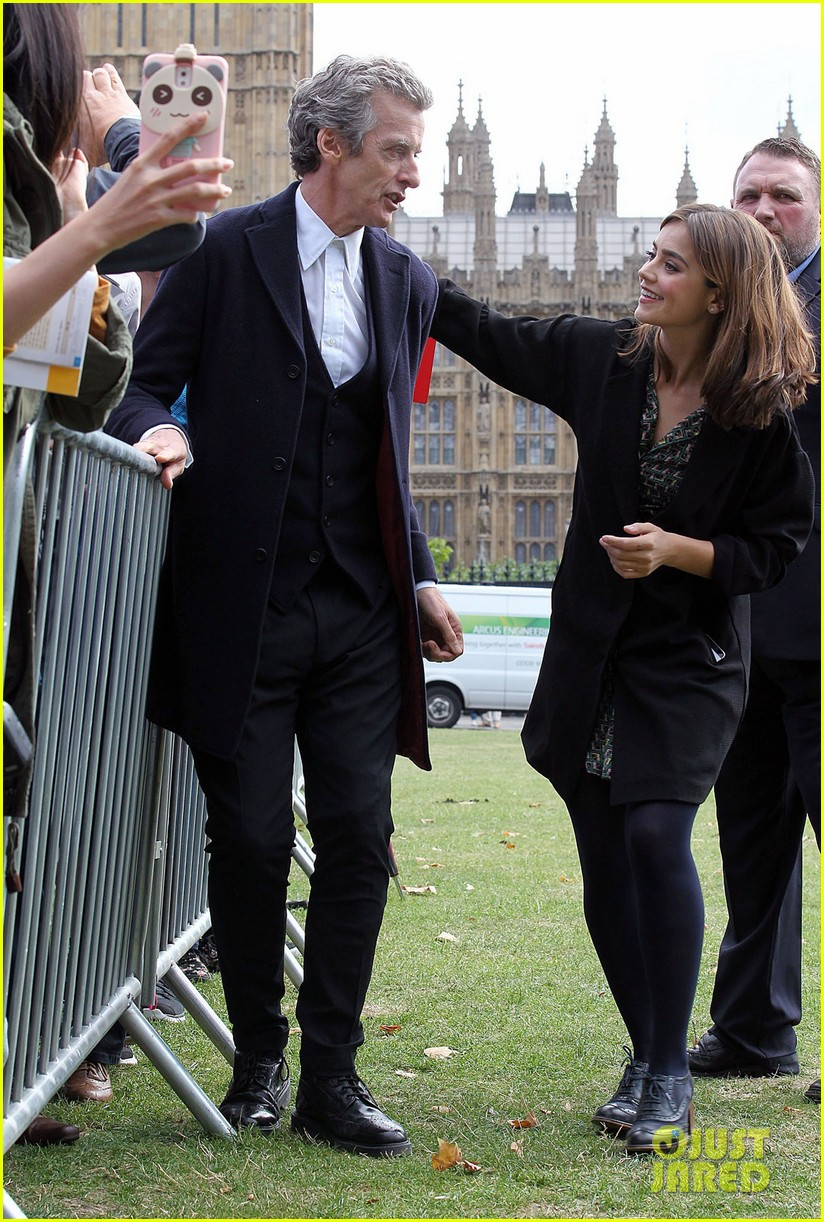 jenna coleman peter capaldi bbc itv photo call london 11