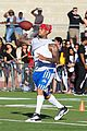 chris brown karrueche tran celebrity flag football game 01