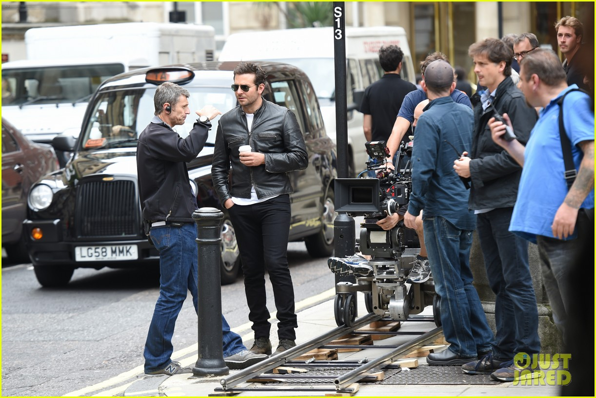 bradley cooper flashes mega watt smile on set 253185023