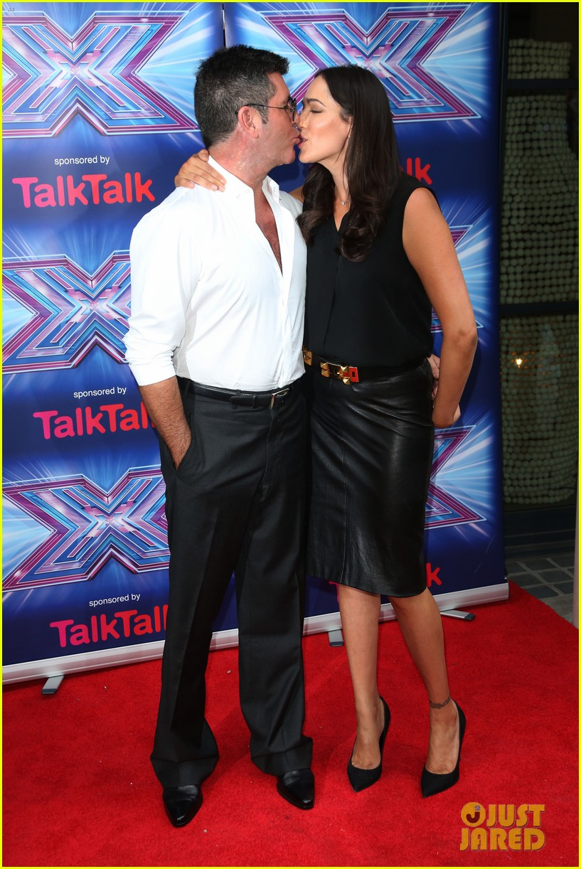 simon cowell girlfriend lauren silverman show some affection at x factor uk 033185325