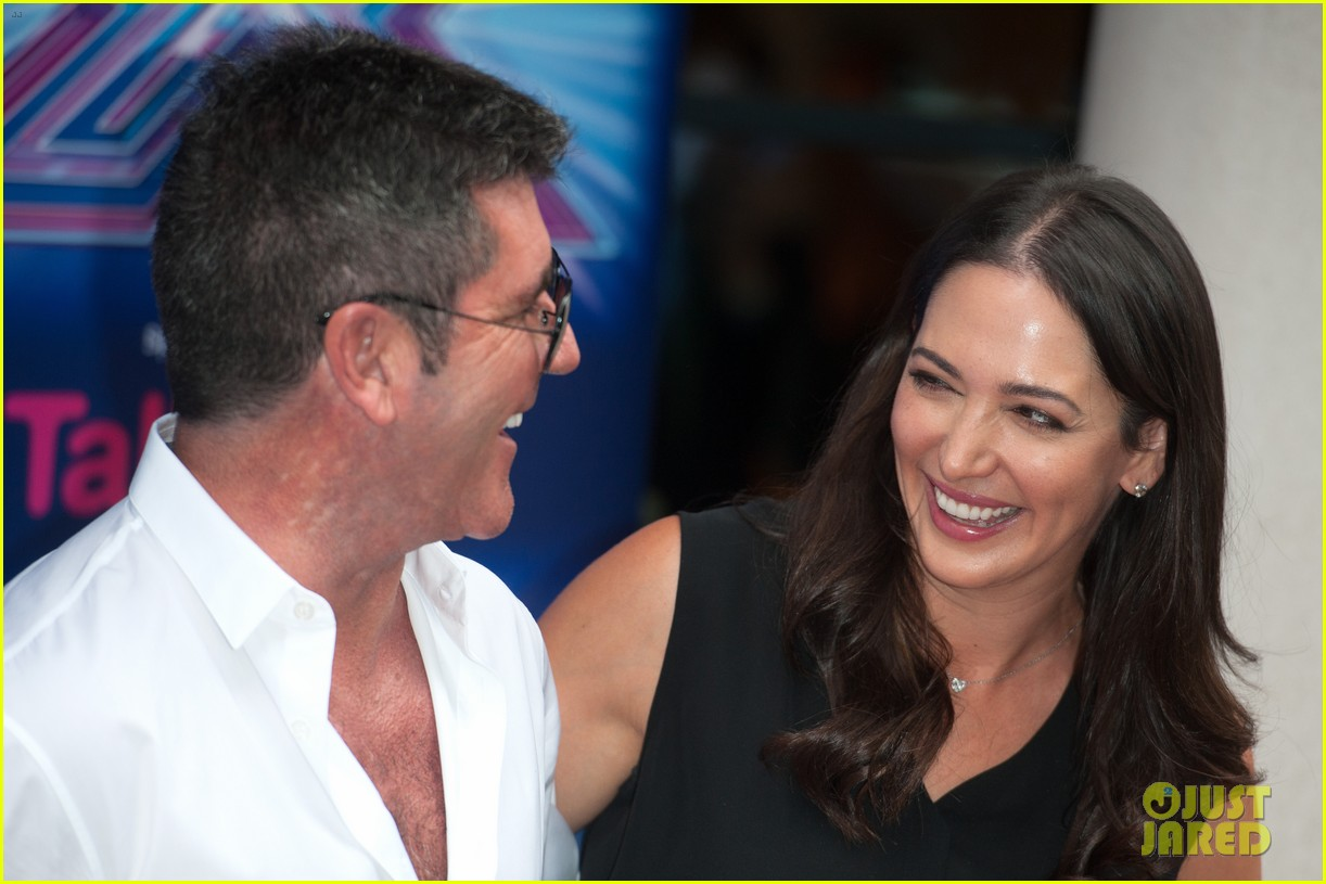 simon cowell girlfriend lauren silverman show some affection at x factor uk 083185330