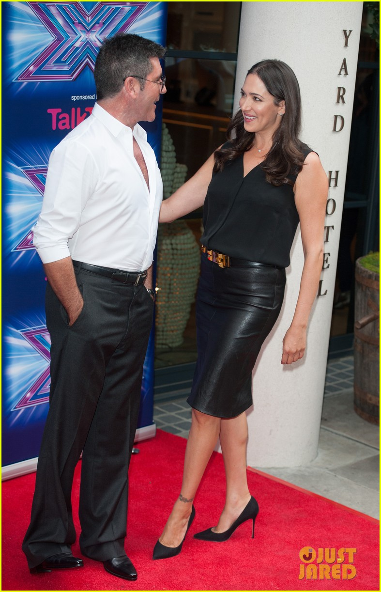 simon cowell girlfriend lauren silverman show some affection at x factor uk 093185331