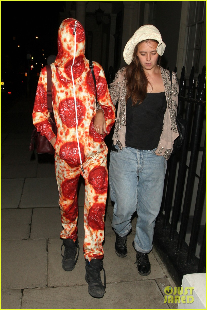 cara delevingne suki waterhouse bikini pepperoni pizza suit 343177487