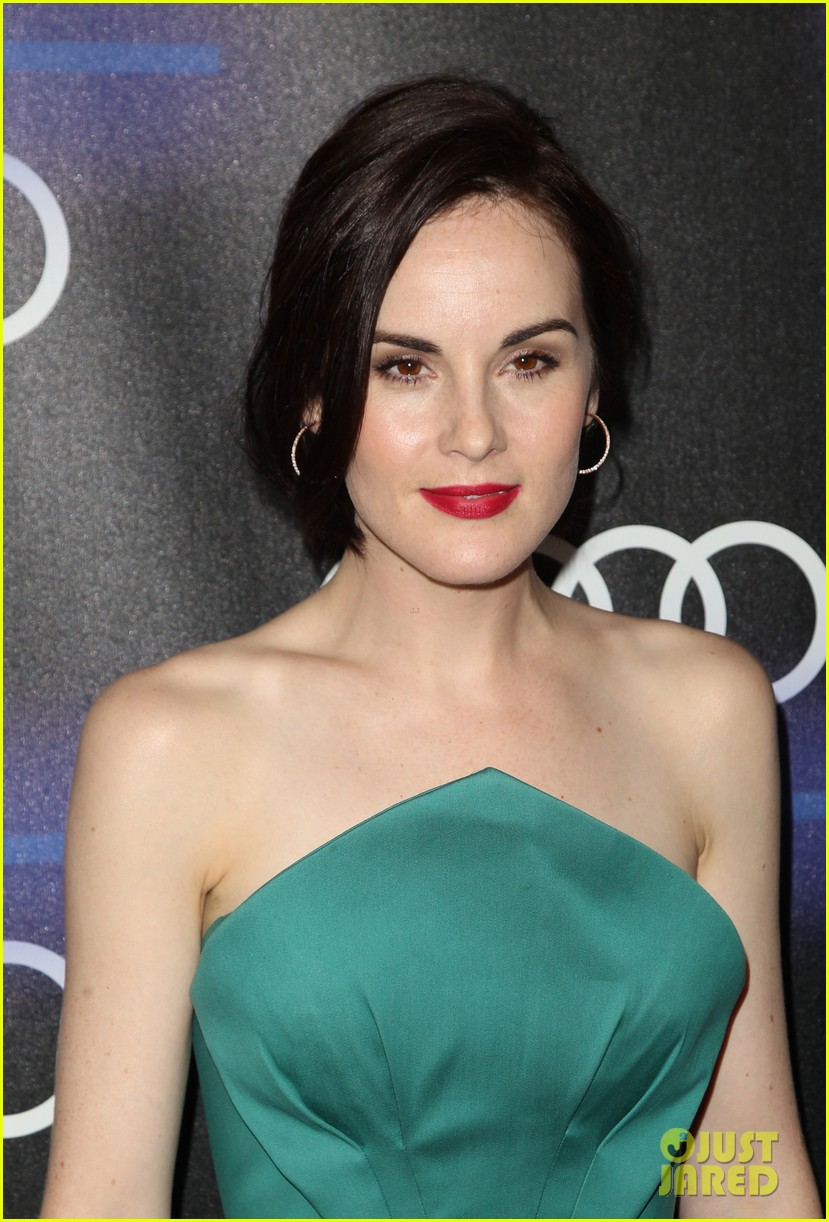 michelle dockery jessica pare audi emmys party 233180770