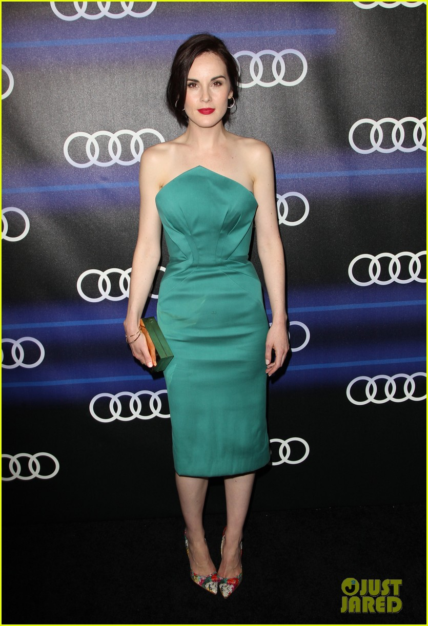 michelle dockery jessica pare audi emmys party 243180771