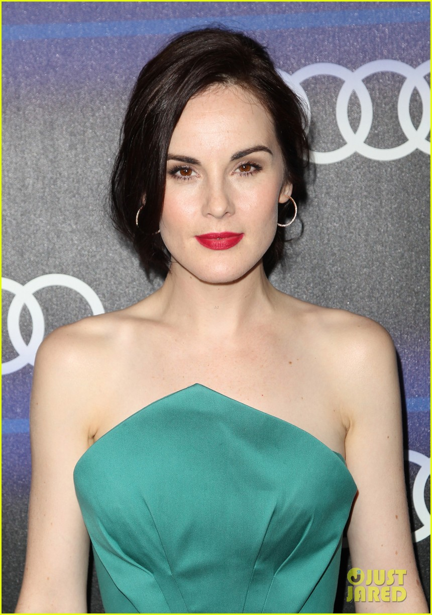 michelle dockery jessica pare audi emmys party 253180772
