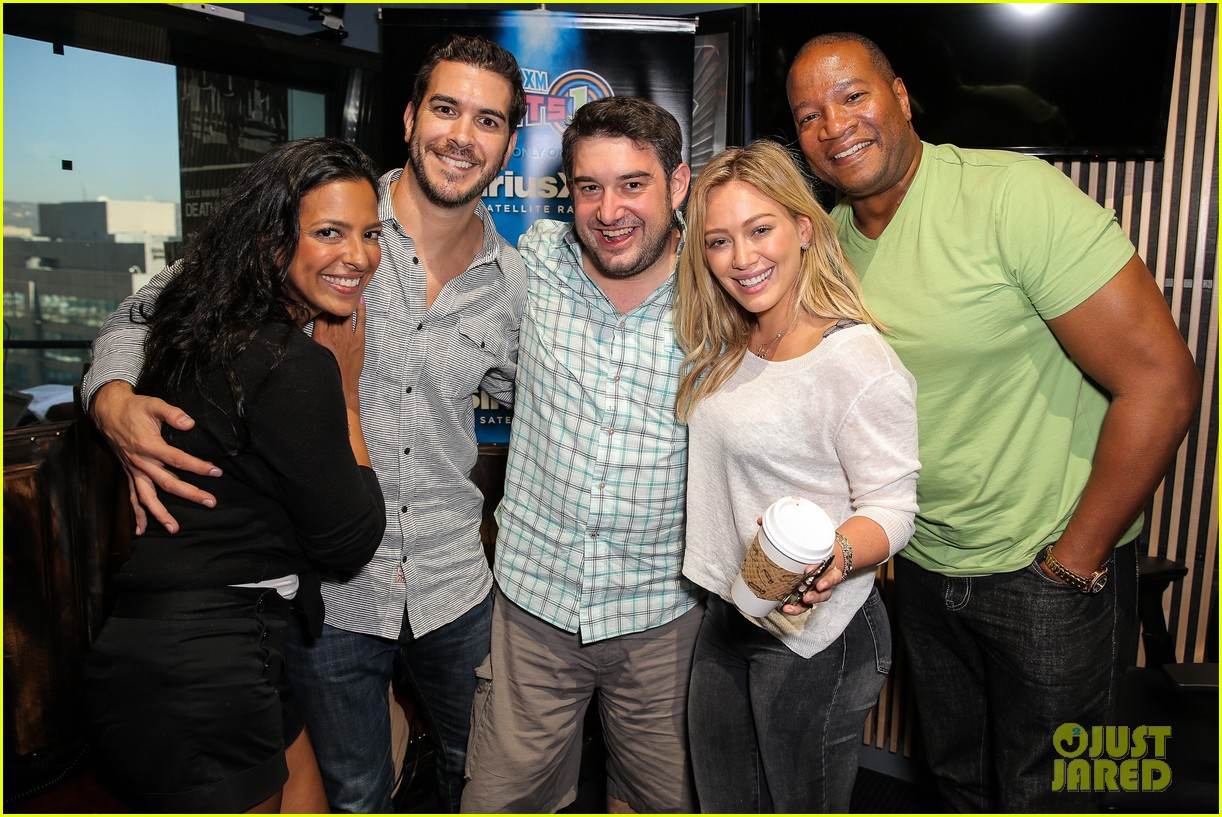 hilary duff promotes new single all about you at siriusxm 013185335