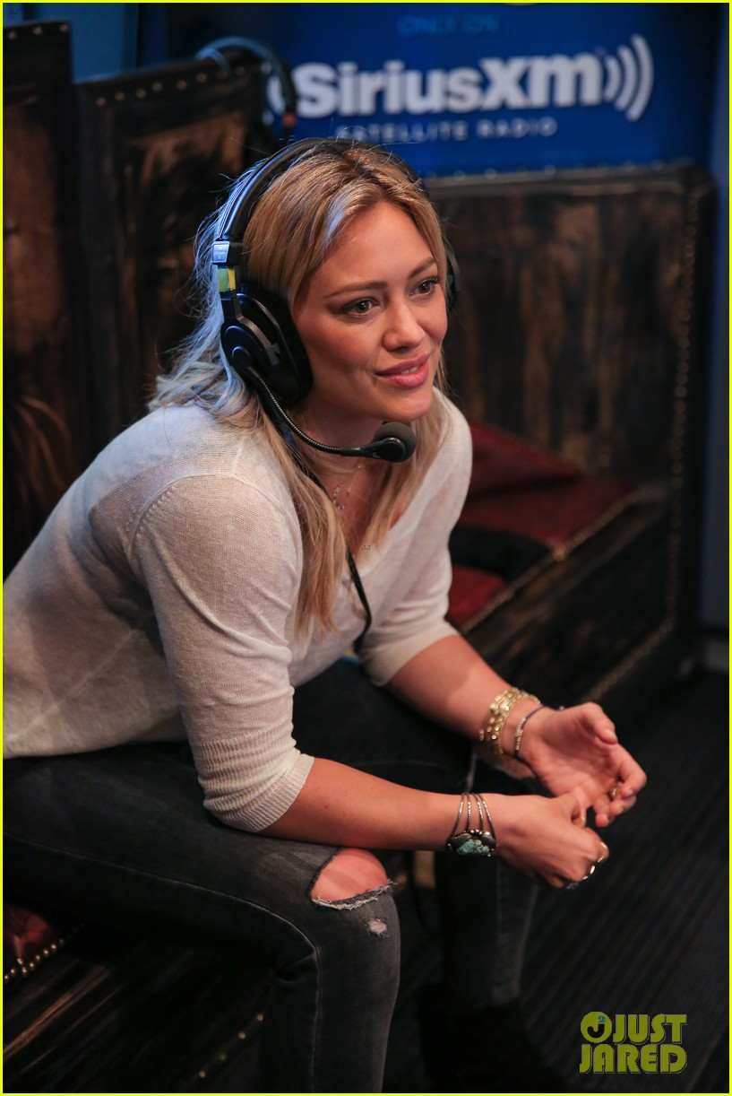 hilary duff promotes new single all about you at siriusxm 14