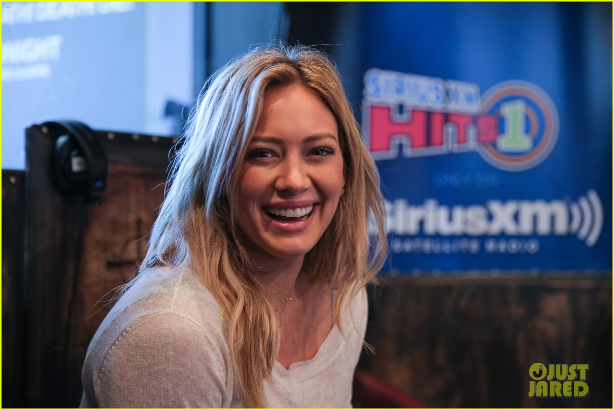 hilary duff promotes new single all about you at siriusxm 173185351
