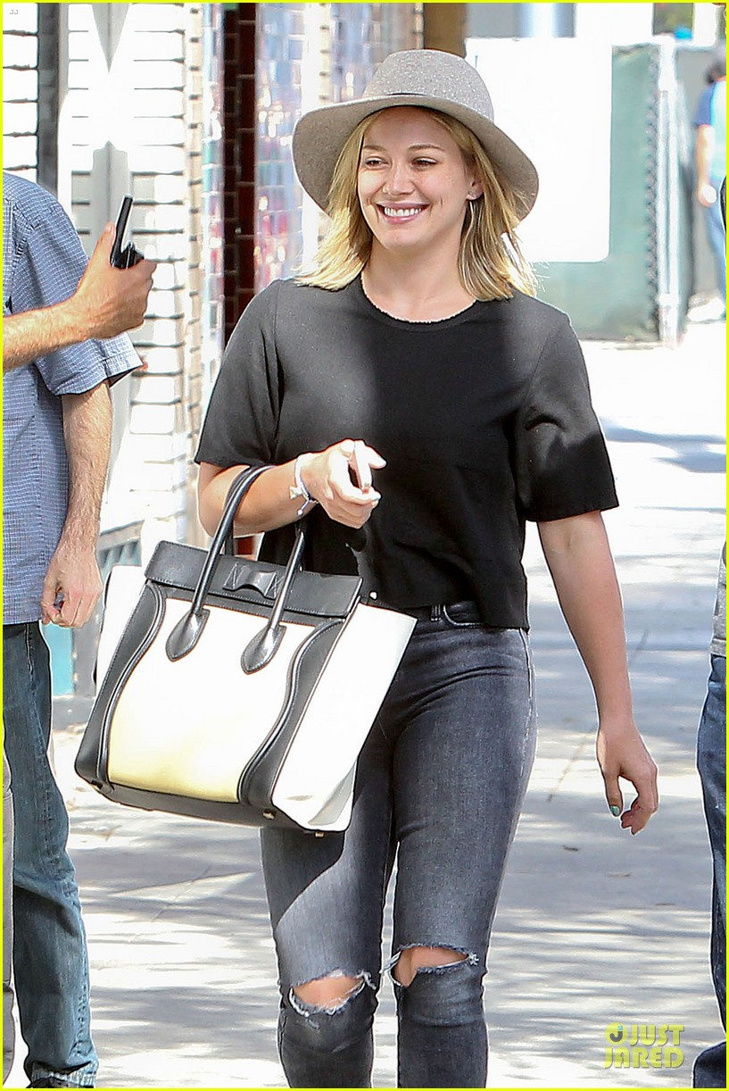 hilary duff looks happy after all about you lyric video drops 153179364