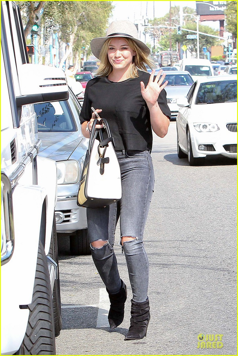hilary duff looks happy after all about you lyric video drops 193179368