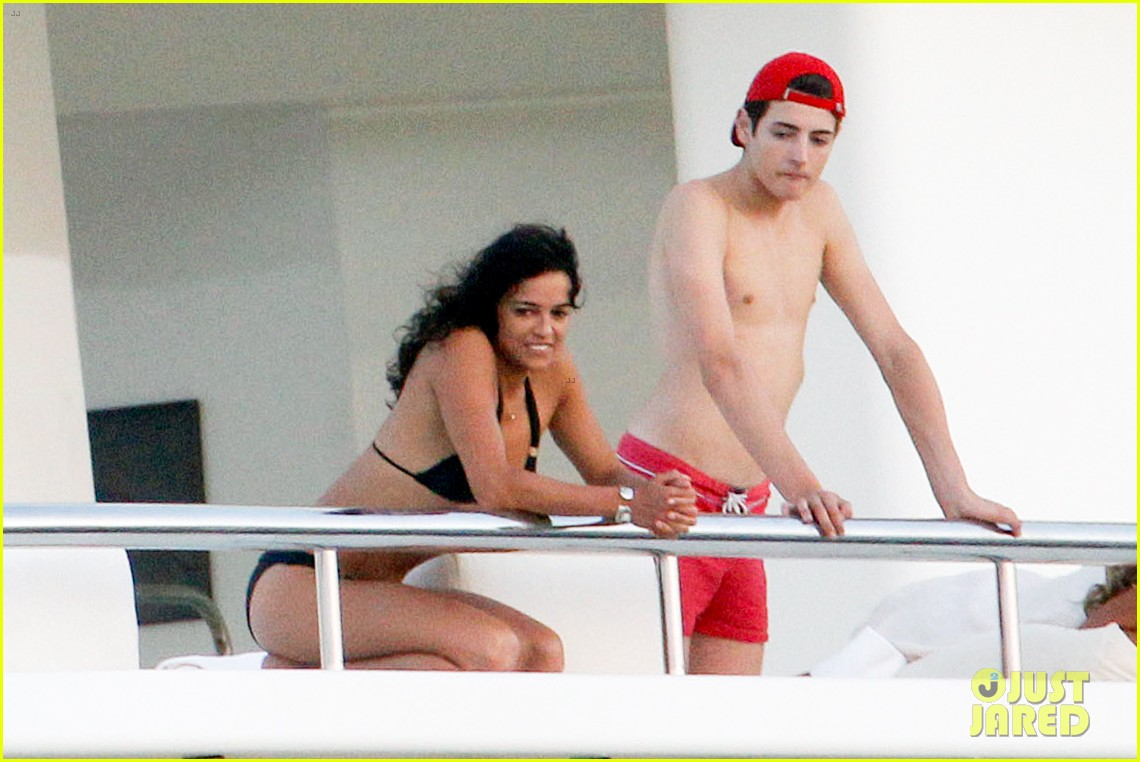 zac efron goes shirtless for jet ski fun with michelle rodriguez 103169335