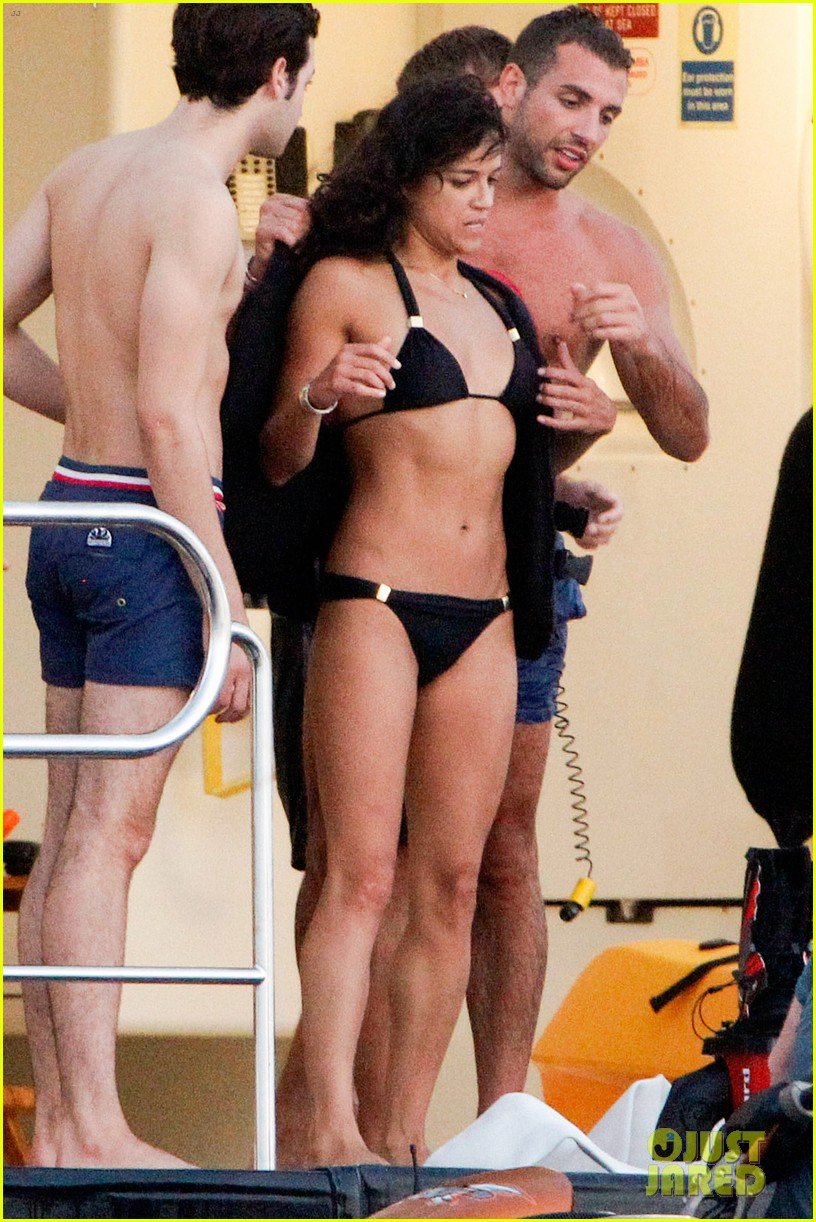zac efron goes shirtless for jet ski fun with michelle rodriguez 123169337