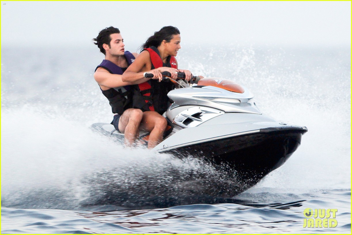 zac efron goes shirtless for jet ski fun with michelle rodriguez 153169340