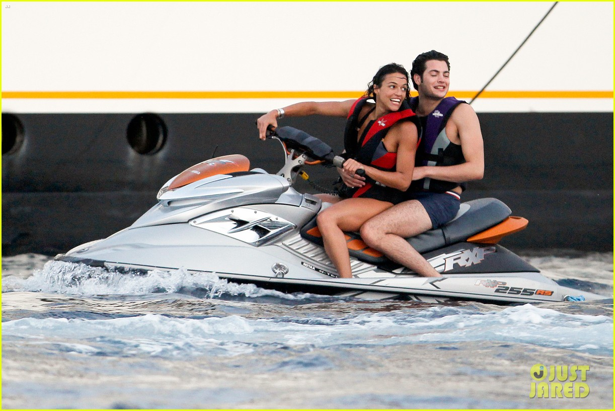 zac efron goes shirtless for jet ski fun with michelle rodriguez 203169345