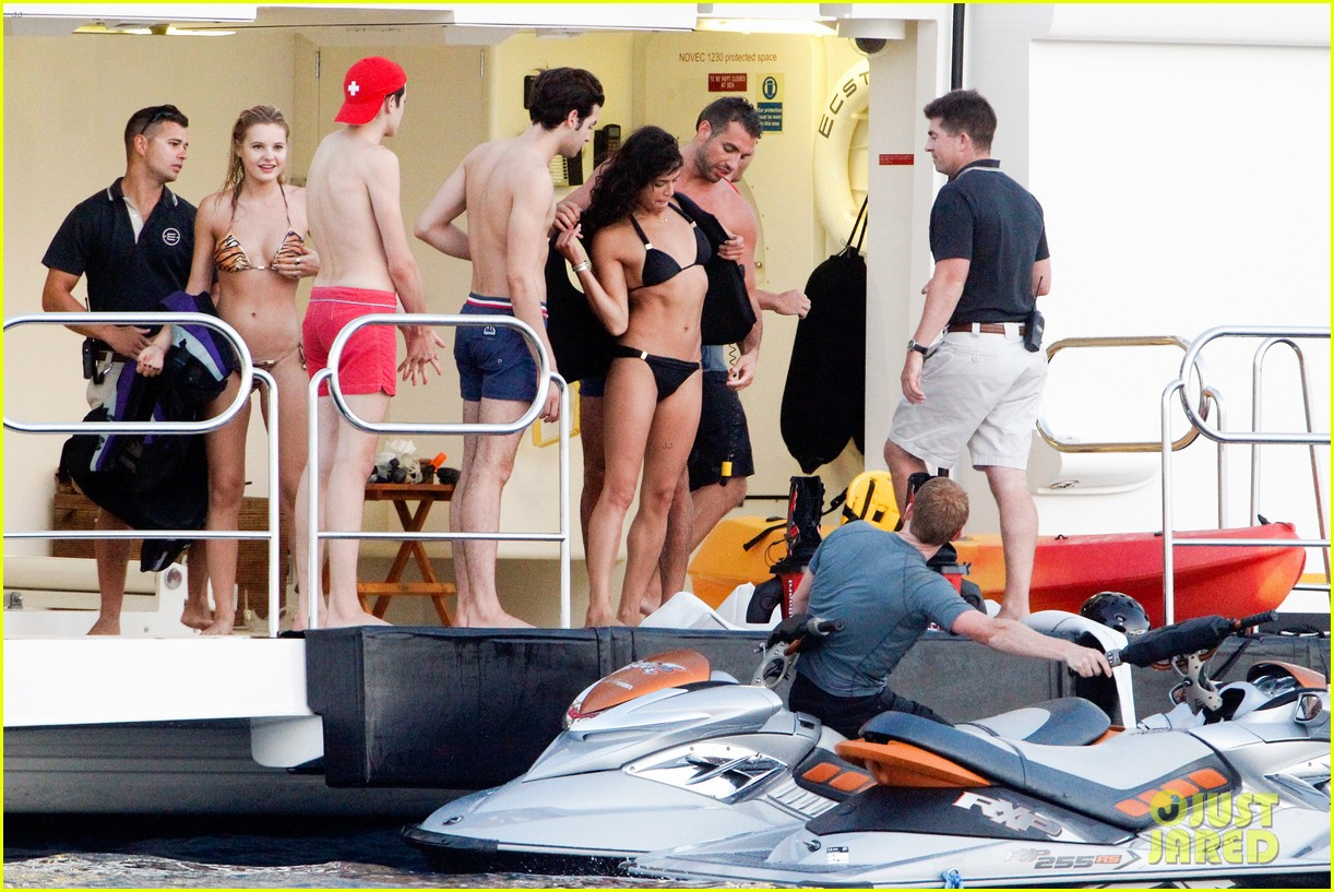 zac efron goes shirtless for jet ski fun with michelle rodriguez 213169346