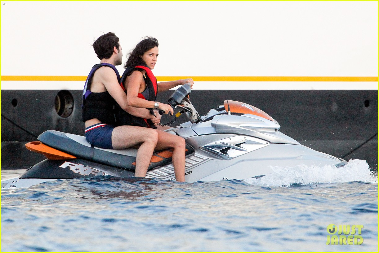 zac efron goes shirtless for jet ski fun with michelle rodriguez 243169349