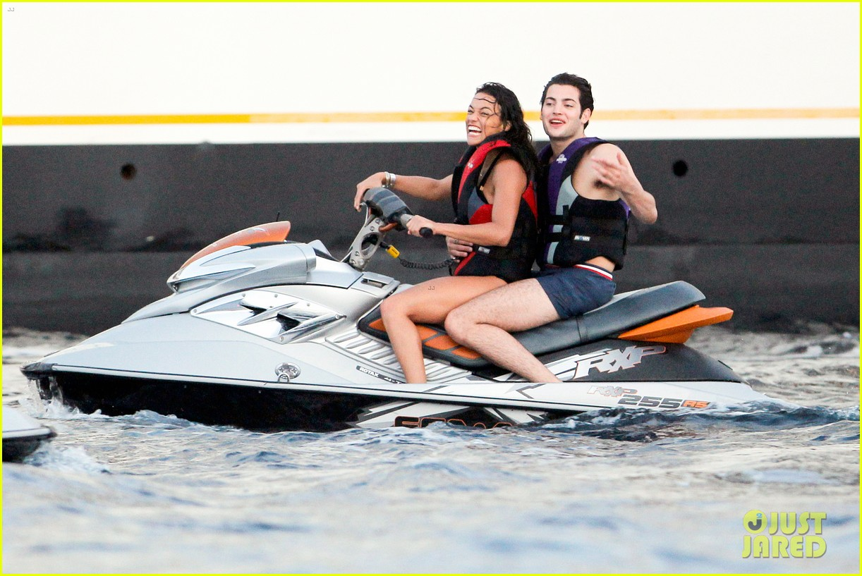 zac efron goes shirtless for jet ski fun with michelle rodriguez 283169353