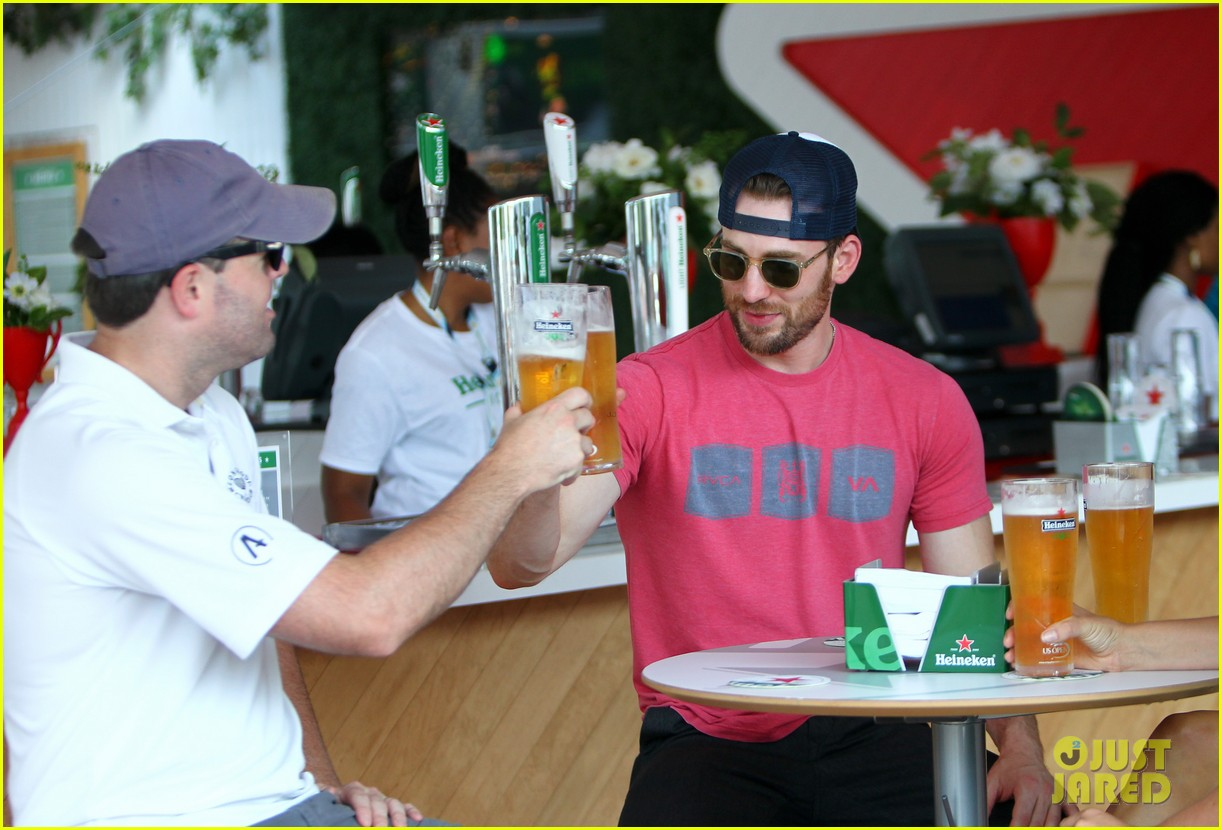 chris evans us open heineken house 033184885