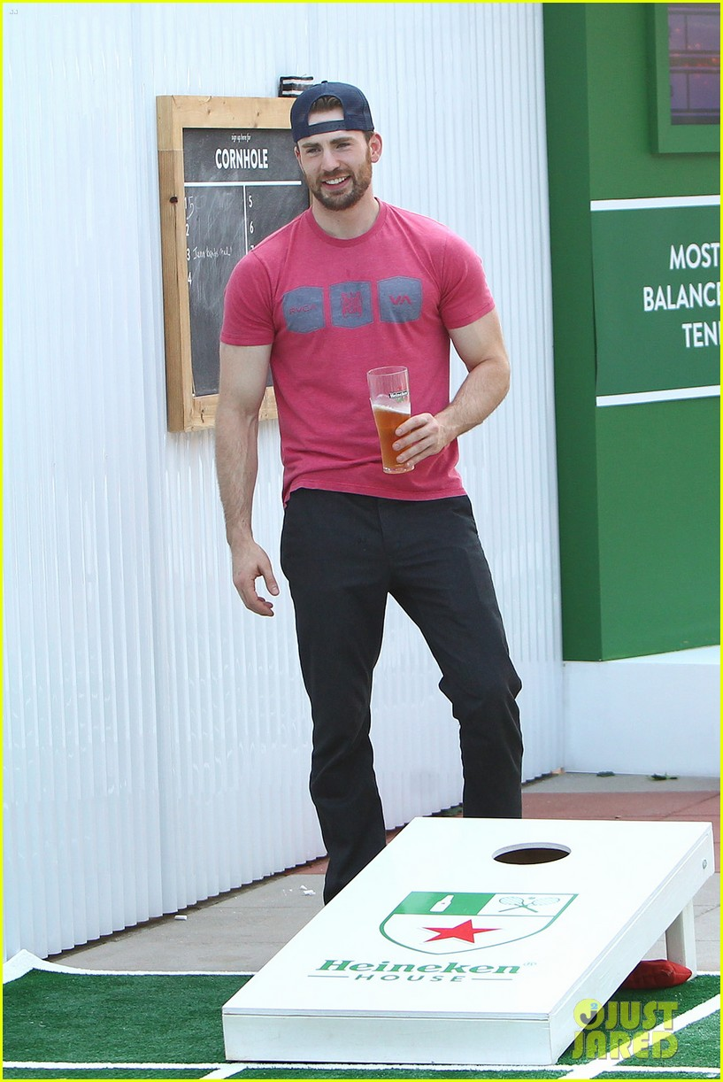chris evans us open heineken house 04.
