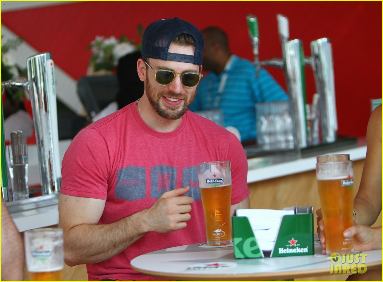 chris evans us open heineken house 053184887