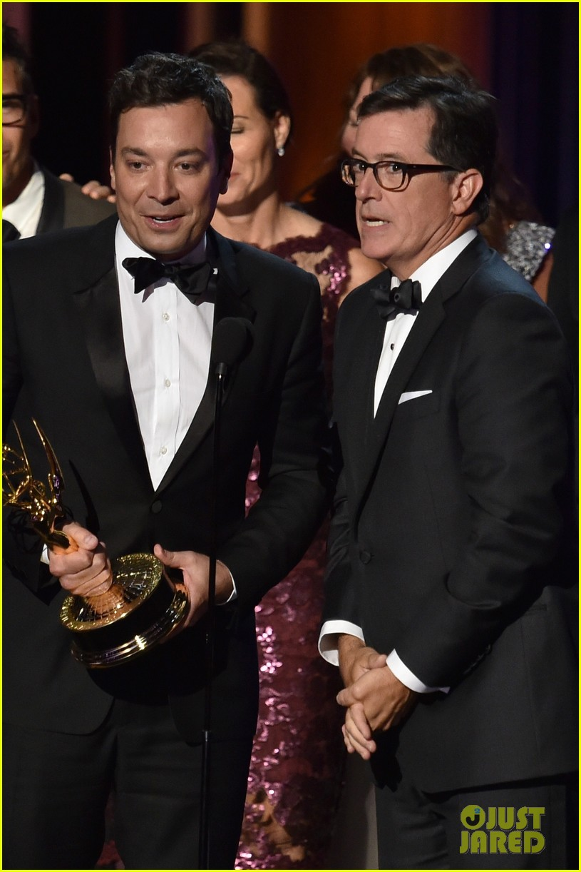 jimmy fallon jimmy kimmell emmy awards red carpet 053183834