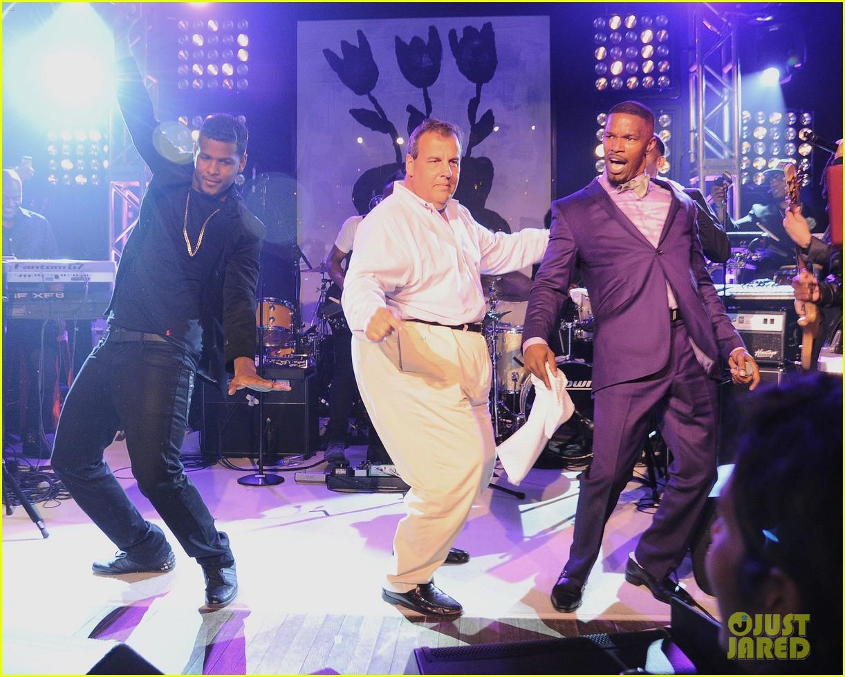 jamie foxx chris christie dance the night away 053178817