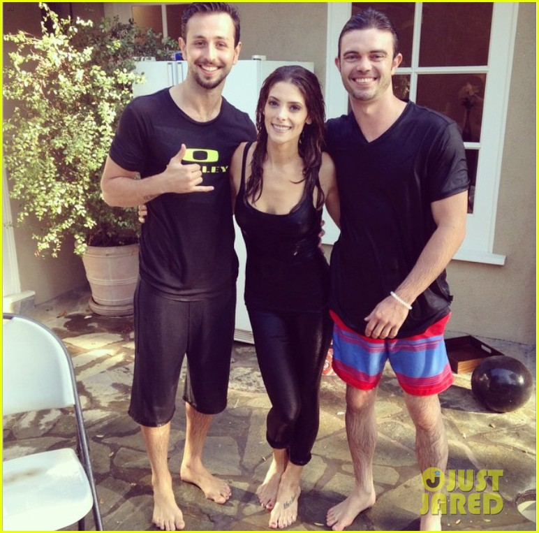 ashley greene als ice bucket challenge video 03