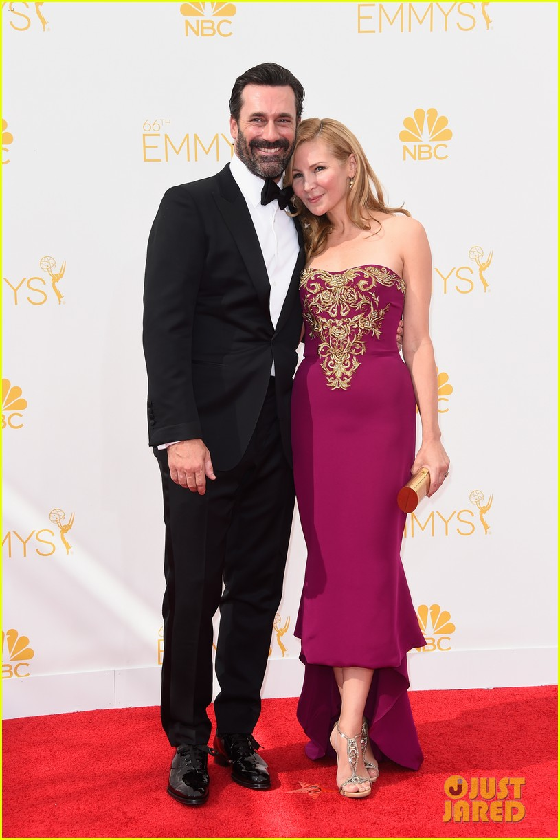 jon hamm jennifer westfeldt loving pair at emmys 2014 033183382