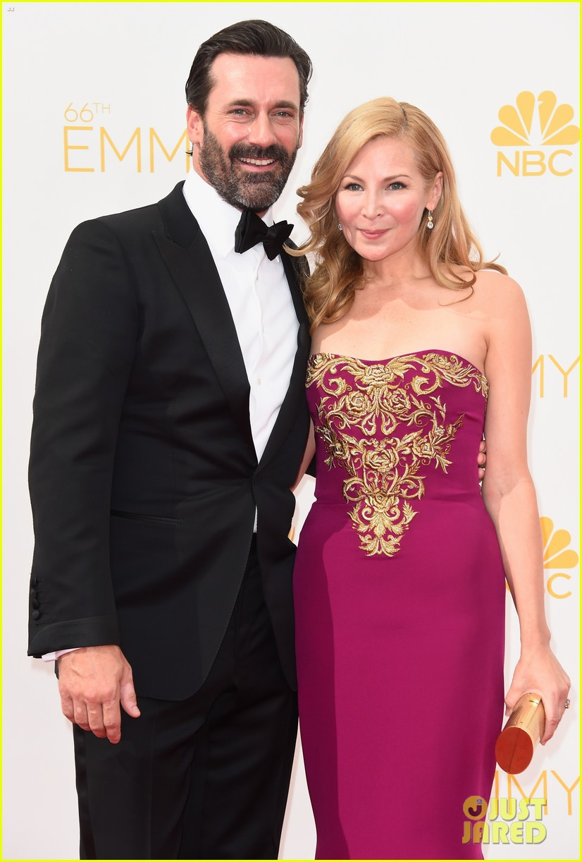 jon hamm jennifer westfeldt loving pair at emmys 2014 083183387