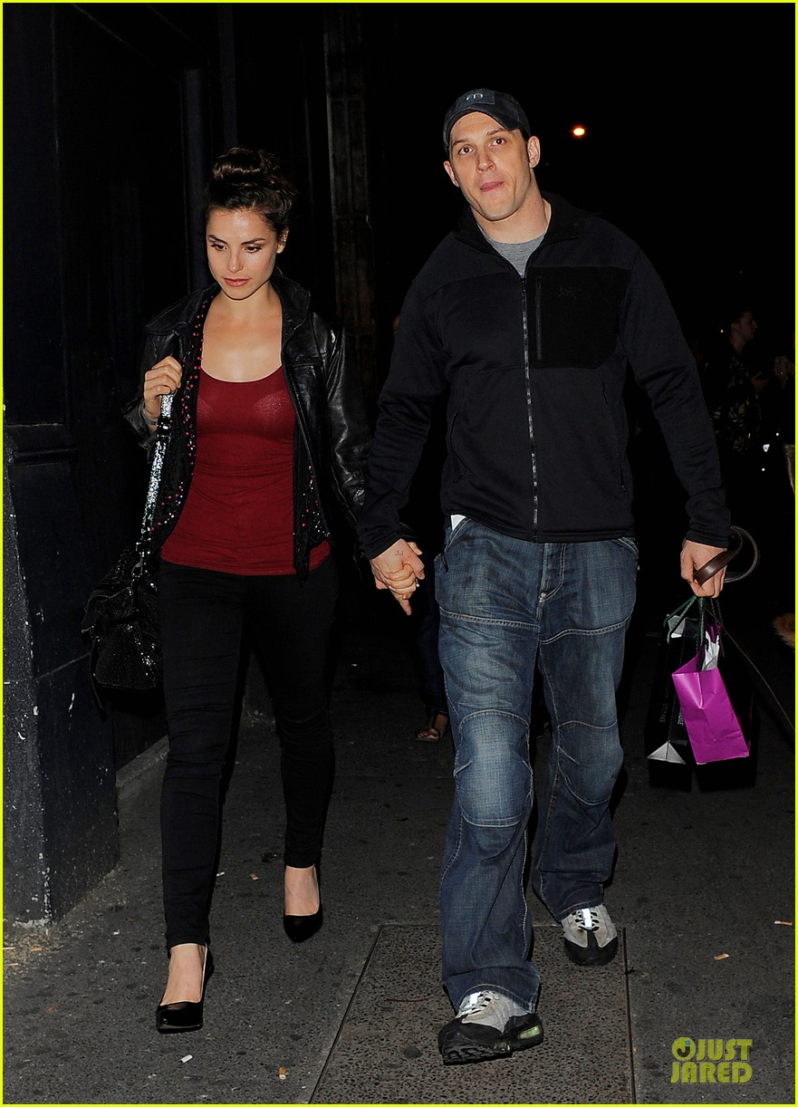 tom hardy charlotte riley hold hands in london 033177357
