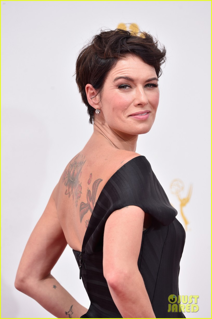 lena headey peter dinklage emmys red carpet 2014 03