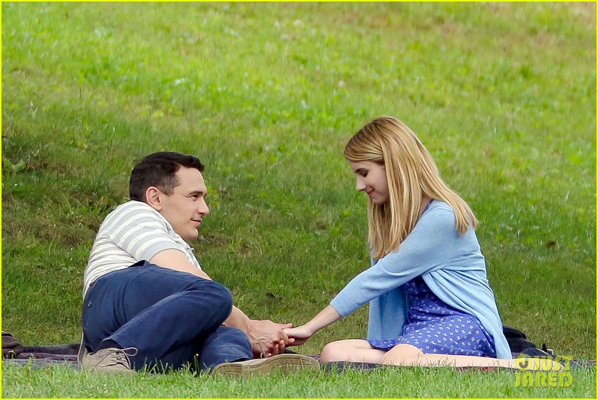 james franco emma roberts kiss park michael filming 013186996
