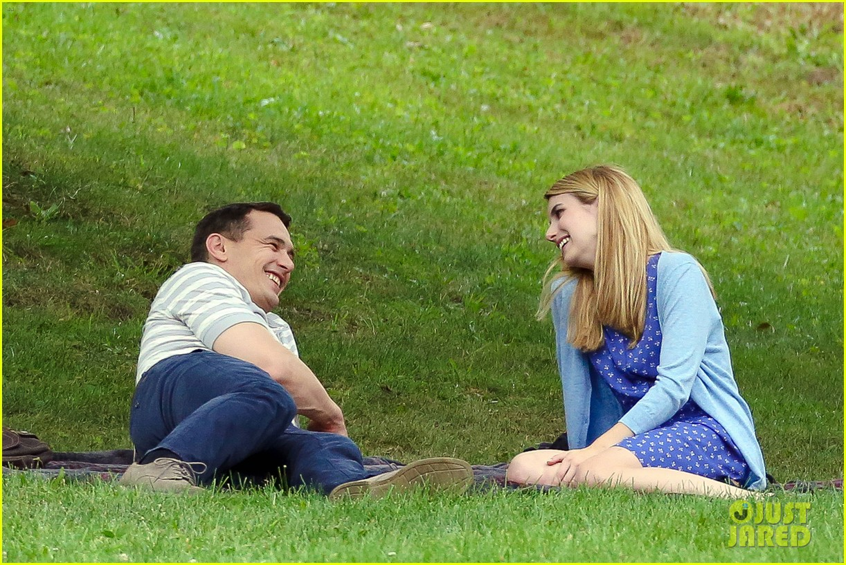 james franco emma roberts kiss park michael filming 103187005