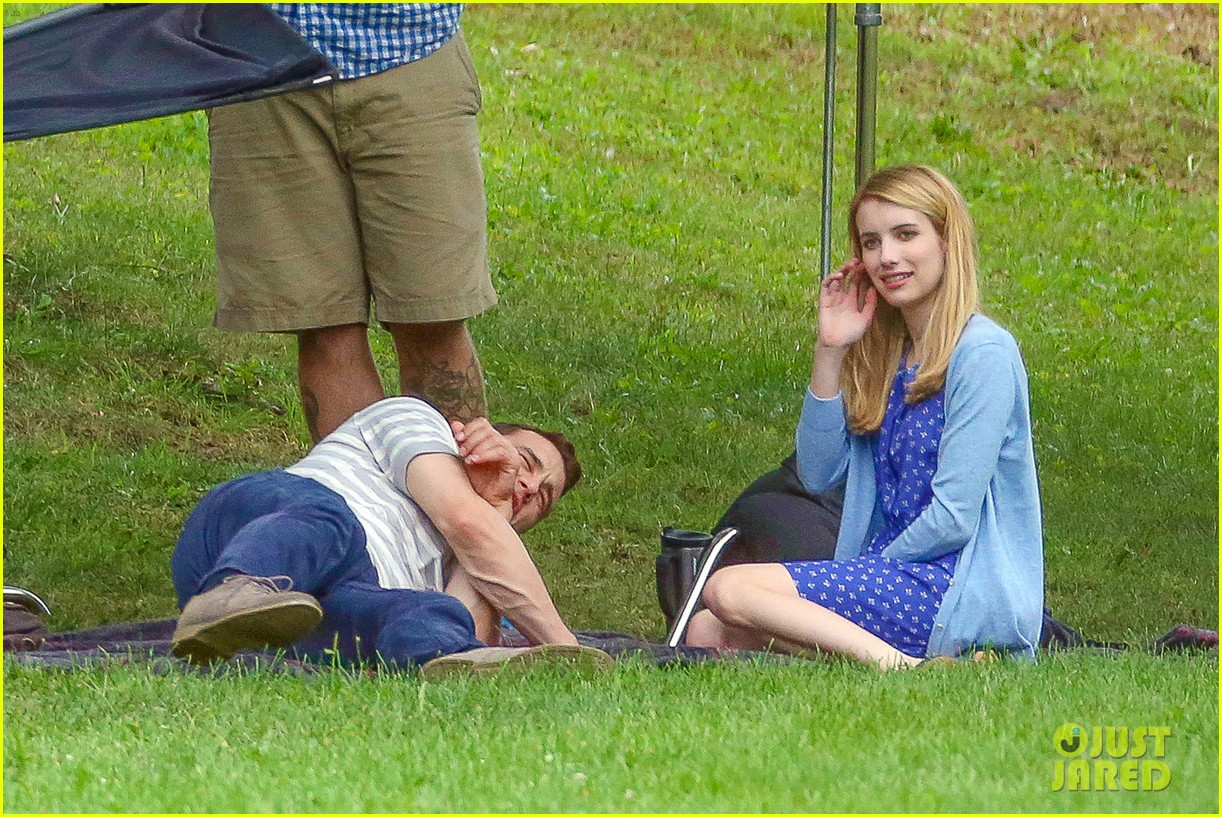 james franco emma roberts kiss park michael filming 11