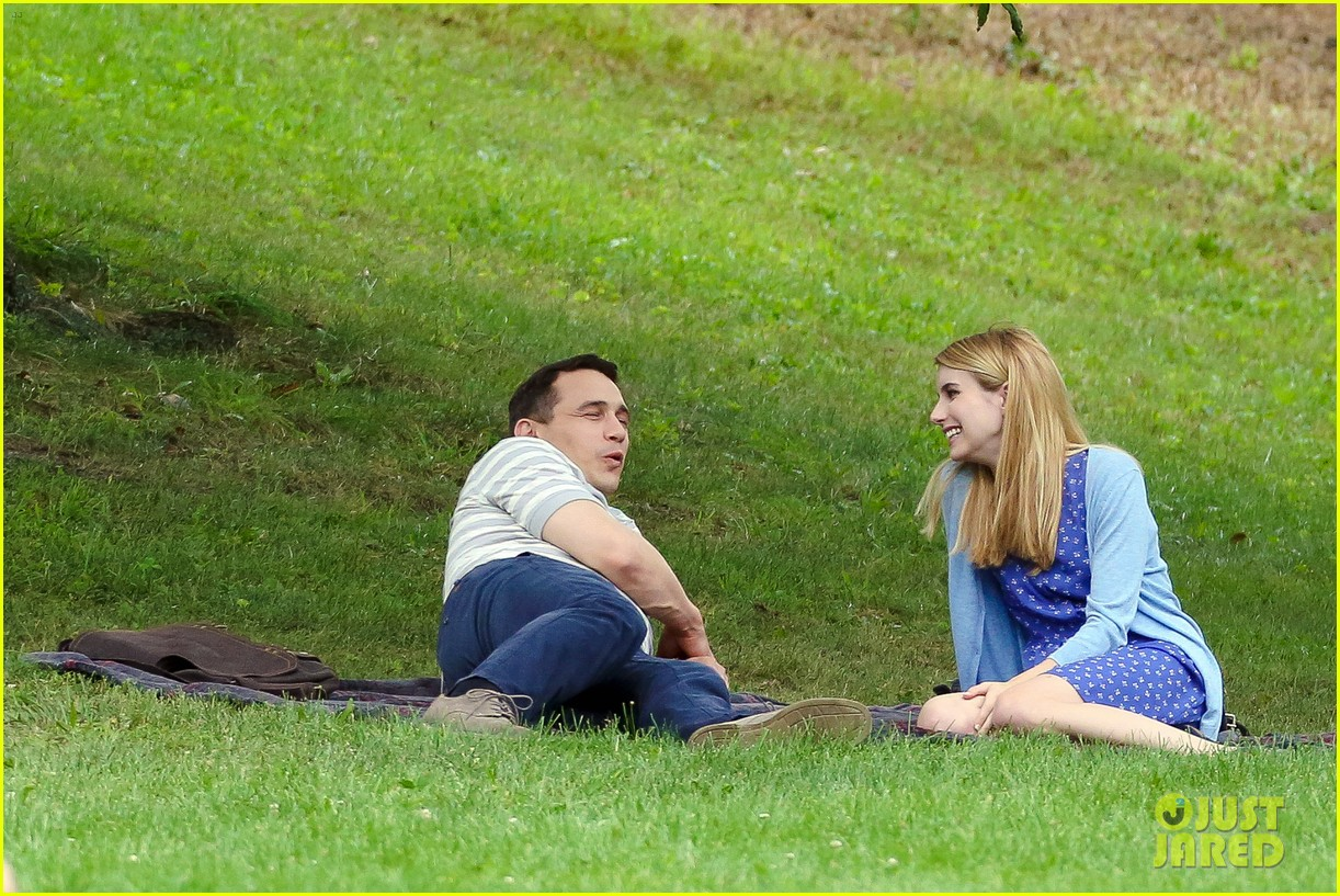 james franco emma roberts kiss park michael filming 203187015