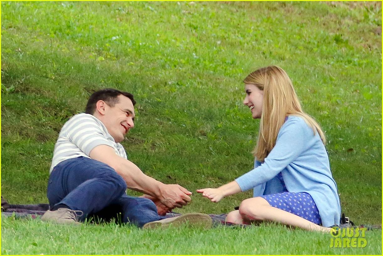james franco emma roberts kiss park michael filming 213187016