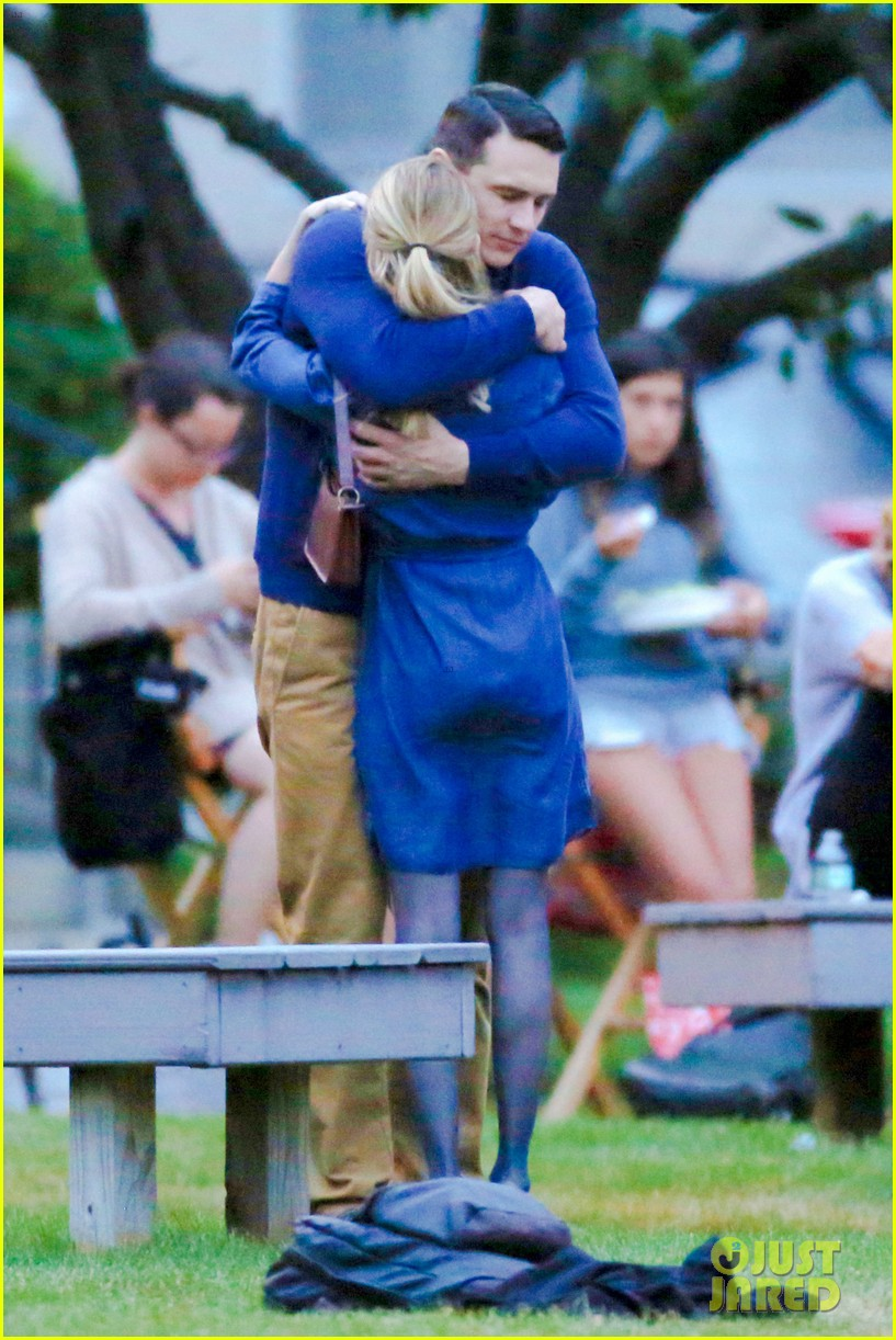 james franco emma roberts kiss park michael filming 253187020