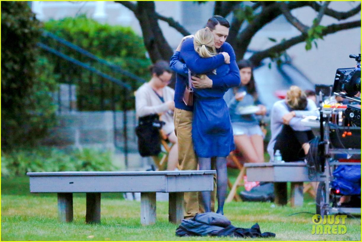 james franco emma roberts kiss park michael filming 273187022